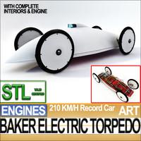 c4d record car 1902 stl