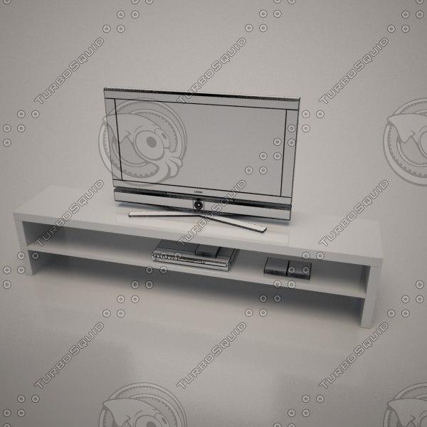 3d cattalan italia aspen tv stand model
