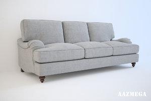 baker bishop sofa 3d model