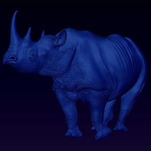 free 3ds model bas relief black rhino