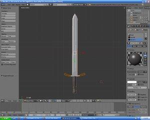 3ds max simple sword