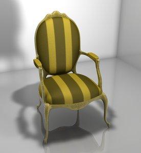 3d c4d chair barroco