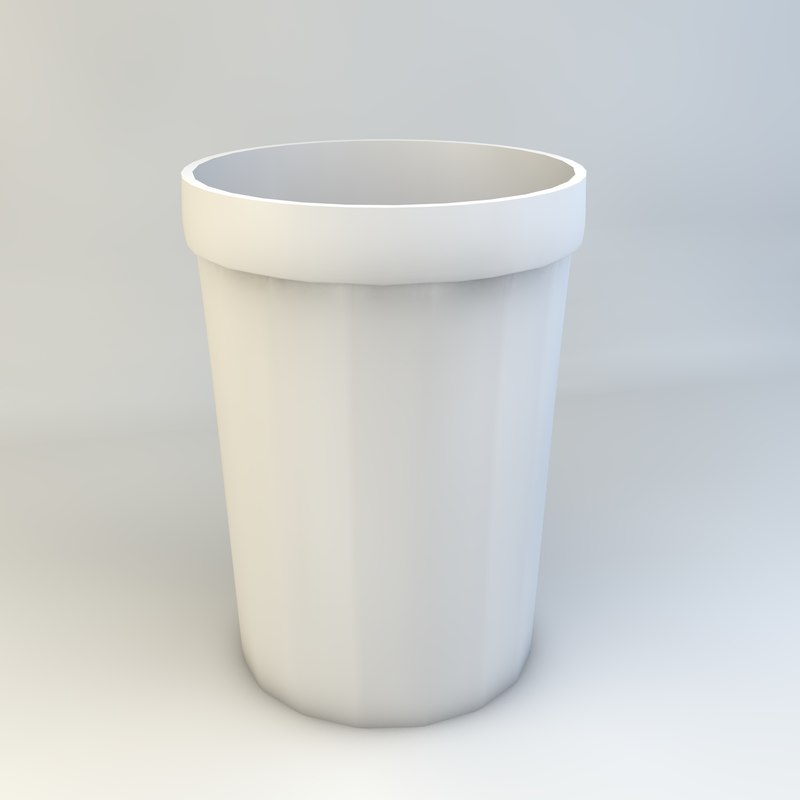 3d model simple 16-sided cup