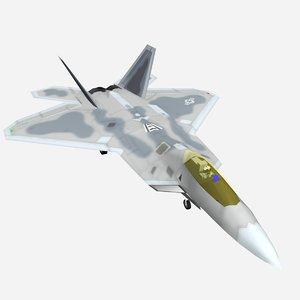 3d model f22 raptor