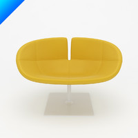 fjord swivel armchair patricia 3d model
