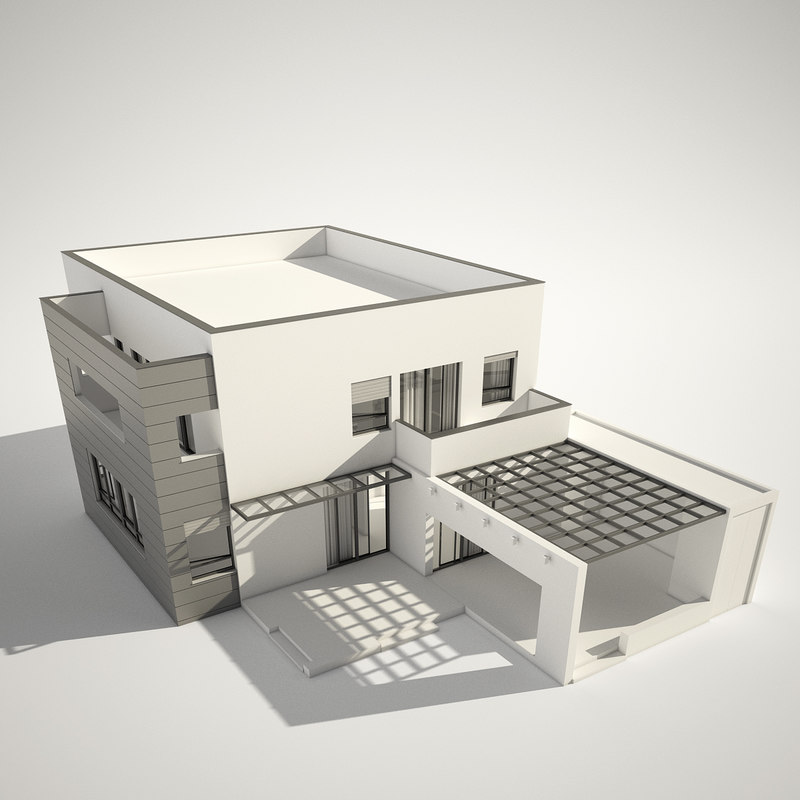3d modern contemporary house New model contemporary house