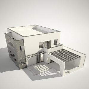 3d modern contemporary house