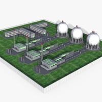 Industrial Plant Scene