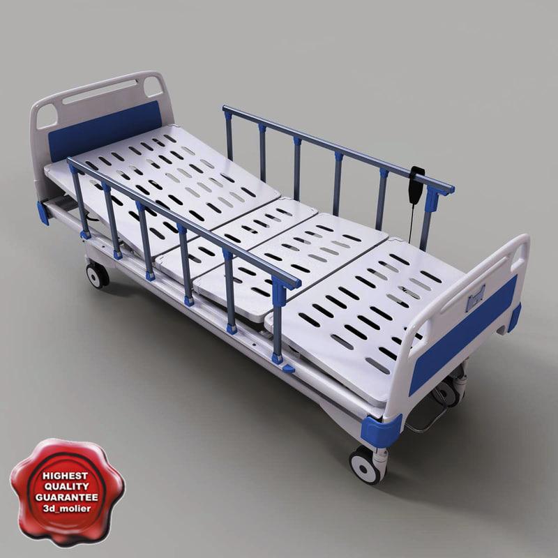 intensive care hospital bed 3d model