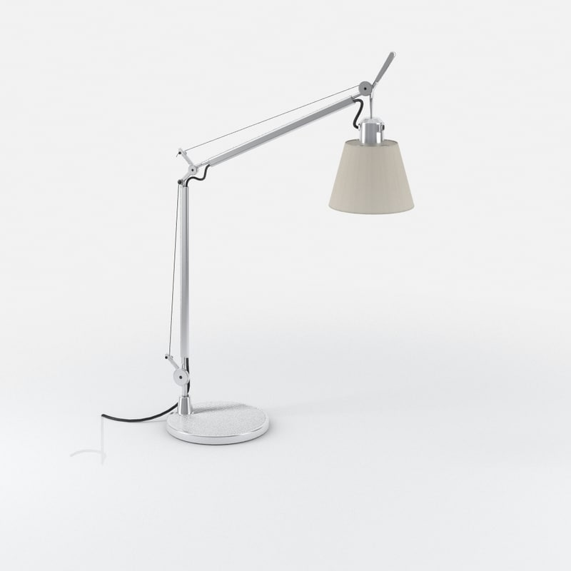 3d model artemide tolomeo table lamp