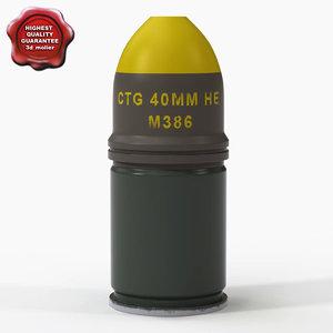 3d max m386 grenade