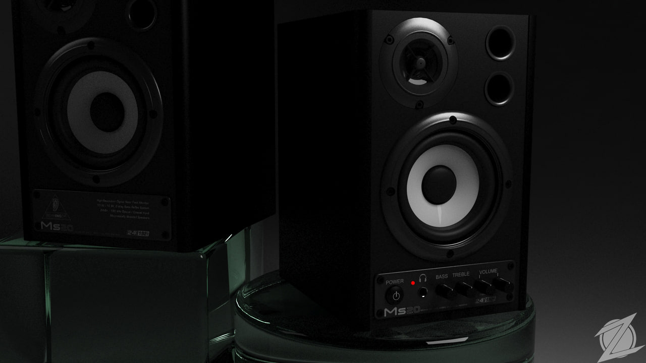 behringer ms20 studio monitor 3d model