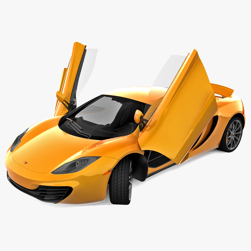 3d rigged mclaren mp4-12c model