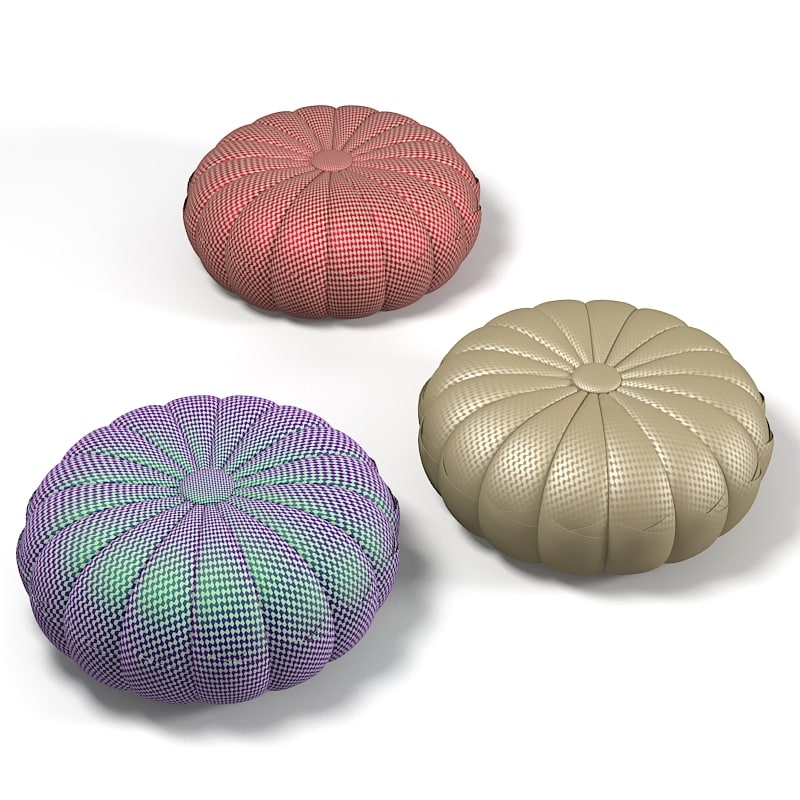 3d puntaspillone pouf model