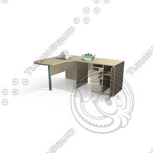 3d model of office computer