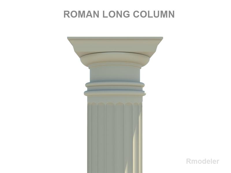 3ds max column roman long