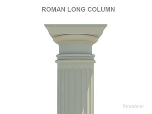 3ds max column roman long
