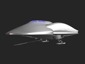 3d st saucer model