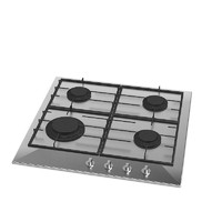 3d model of stainless steel cooktop