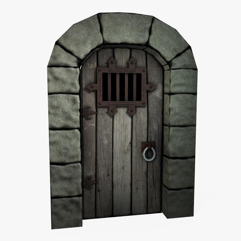 Medieval door texture texture png door medieval - 3d Model Castle Dungeon Door