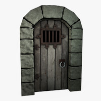 3d model castle dungeon door