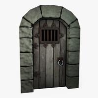 3d model castle dungeon door