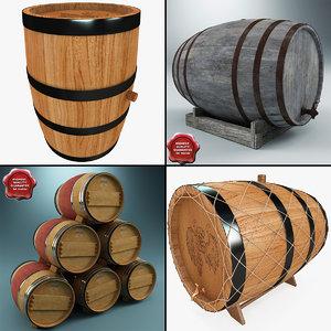 3d wine barrels