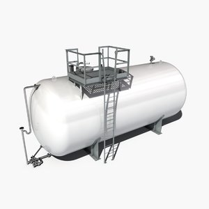 atmospheric tank storage 3d fbx