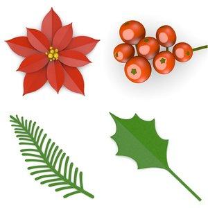 rowan berries flower 3d 3ds