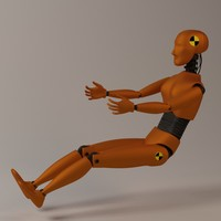 3d car crash test dummy model
