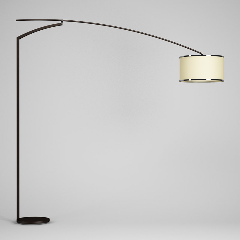 wooden floor lamp 44 3d max
