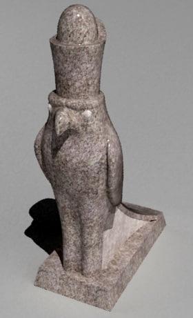 3d god horus sculpture