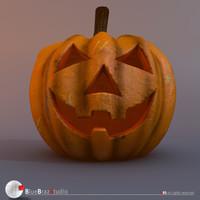 3ds pumpkin jackolantern