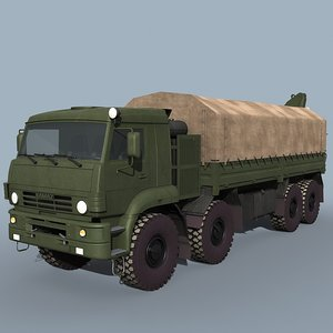kamaz-6560 truck loader 3d 3ds
