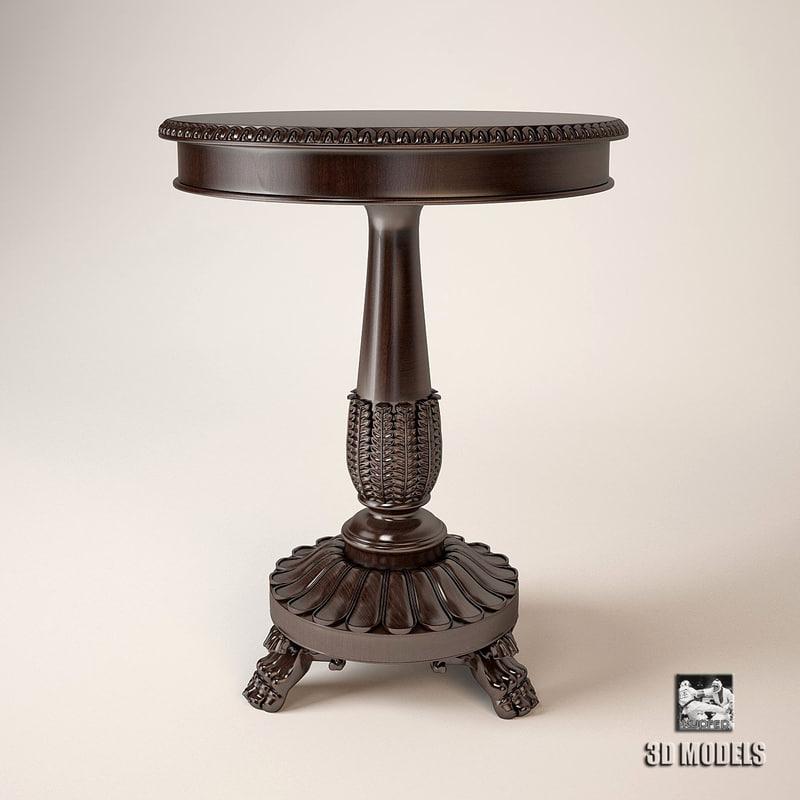3d model ralph lauren conservatory table