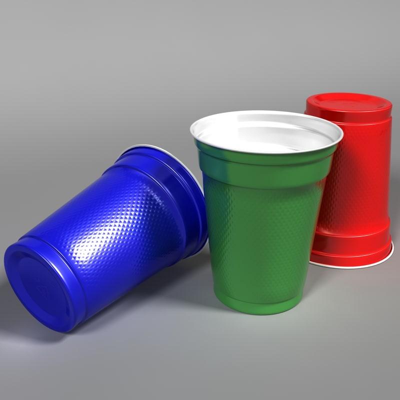 3d model plastic cup
