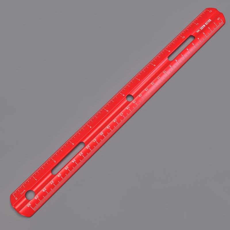 3d model plastic ruler