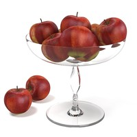 Red Apple Glass Bowl
