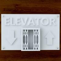 3d printable print elevator sign
