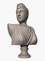 ancient greek artemis bust max