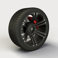 Wheel XD Series Monster rim and tyre