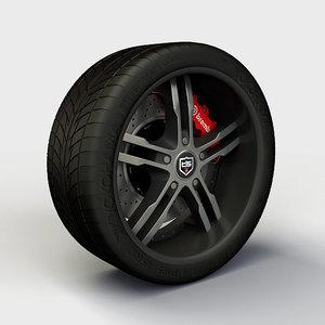 3d model tis16 rim tyre
