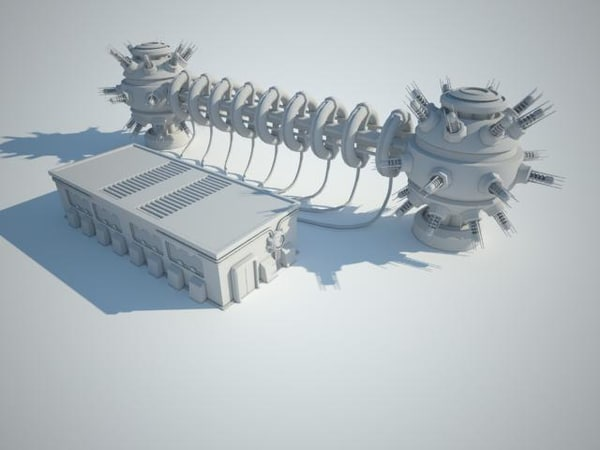 3d model of futuristic sci fi building