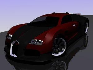 free blend model bugatti veyron