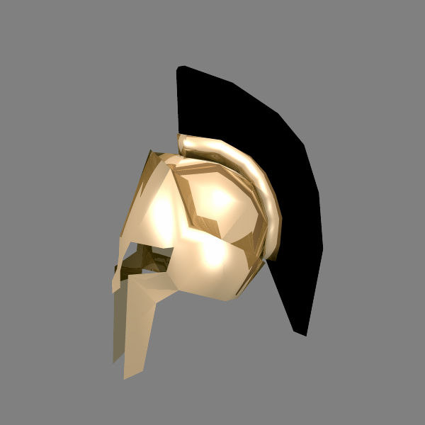 3ds max spartan helmet