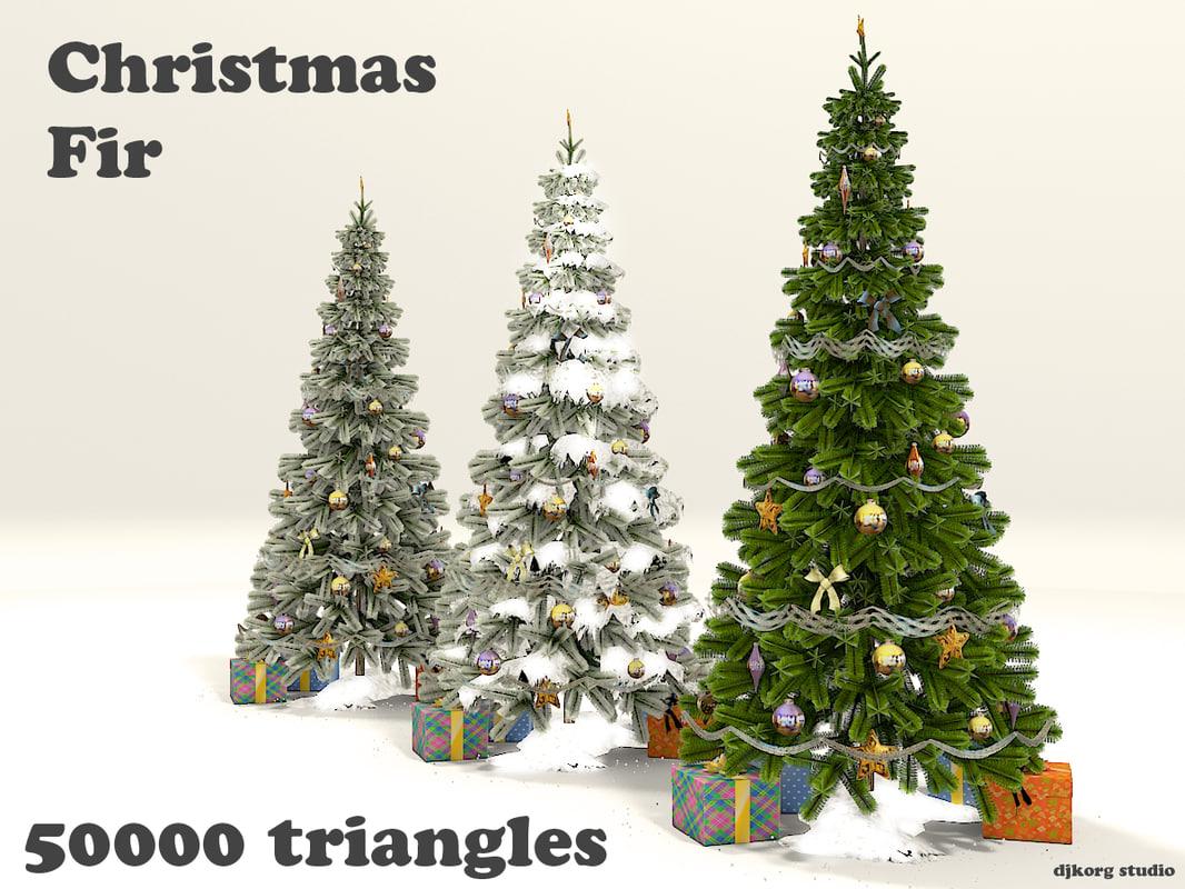 3d christmas fir model