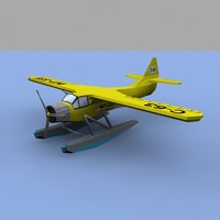 plane water waterplane 3d model