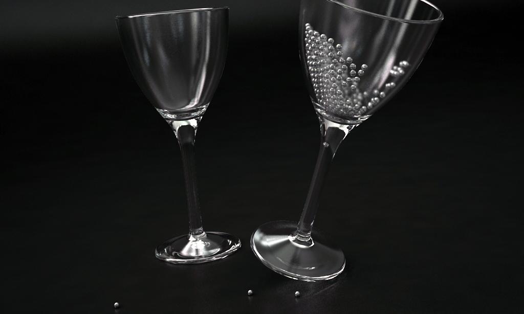 glass spheres wine 3d model