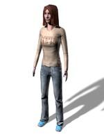 3d realistic woman model