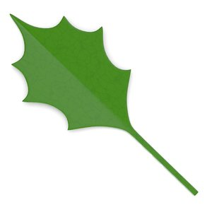 3d model of decorative leaf